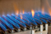 Gas Burning In A Heating Appli...