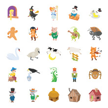 Fairy Tale II Color Vector Icons
