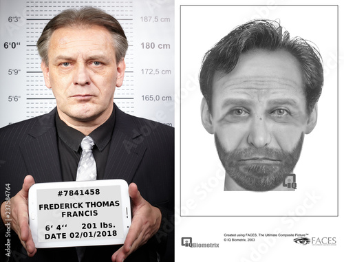 Photo Suspect catched by police thanks to good police sketch