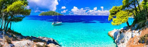 Motiv-Rollo Basic - Best beaches of Skopelos island - beautiful Limnonari with amazing bay. Sporades islands of Greece