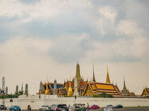 Photo  Bangkok/Thailand - 8 October 2018:Wat phra kaew temple at bangkok city Thailand