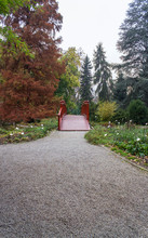 Small Red Garden Bridge