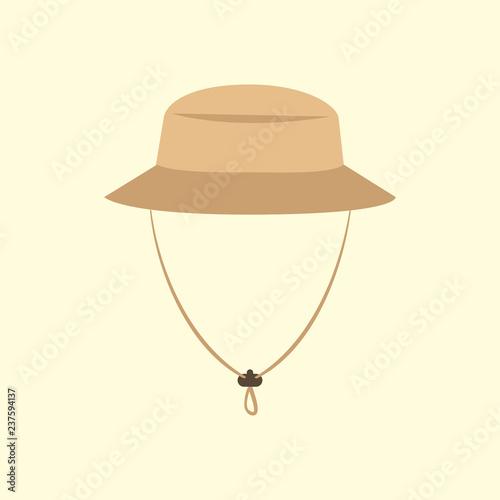Photographie  Tourist hat. Adventure. Vector illustration. EPS 10.