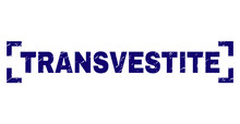 TRANSVESTITE Text Seal Print W...