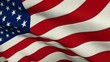Flag Of USA. Realistic fabric Flag of the United States, looped footage in close up