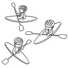 Vector Set Of Kayak