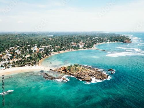 Fototapeta Mirissa beach, aerial view, Sri Lanka