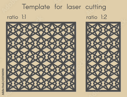 Template for laser cutting  Stencil for panels of wood