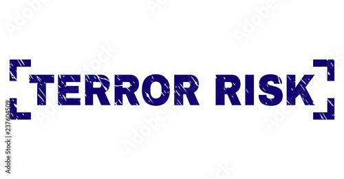 Fotografie, Obraz  TERROR RISK label seal print with distress texture