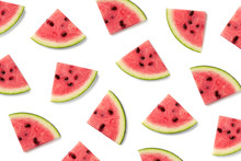 Fruit Pattern Of Watermelon Sl...