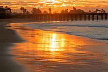 California Beach Sunrise Along...