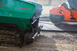Asphalt road paver paiving machine construction industry roadwork repair