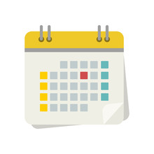 A Set Of Calendar Icons With A...
