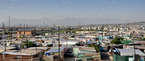 Valokuva Panorama of Khayalitsha Township - the poorest slums - against the background of