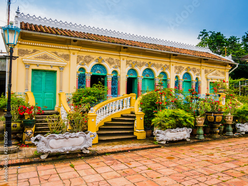 French colonial-style house in Binh Thuy village, Can Tho, Vietnam