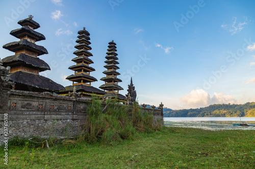 Hindu temple ruins of Pura Hulun Danu at the Tamblingan lake, Bali, Indonesia