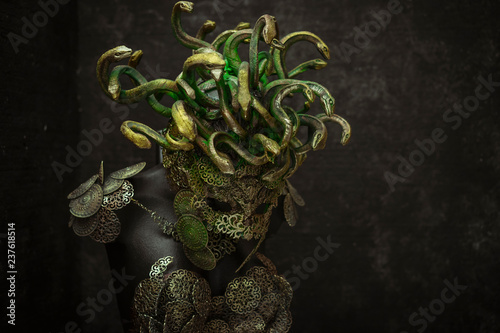 Medusa, creature of Greek mythology Canvas Print