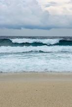 Storm And Surf On The Sandy Beach, Fuvahmulah Island, Indian Ocean, Maldives, Asia