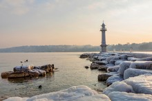 Lighthouse And Bains Des Paquis, Geneva, Switzerland