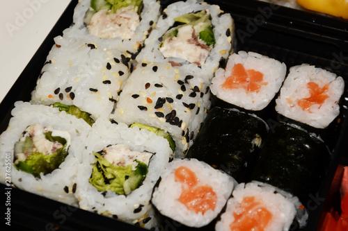 Sushi Food Rice Japanese Fish Roll Salmon Maki Meal