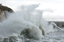 Rough Sea And Waves At Newhaven Harbour