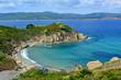 Rocky coast beach in Skiathos Greece