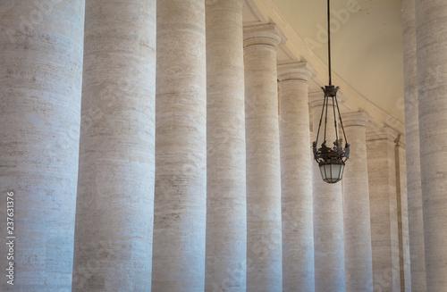 Bernini Colonnade at Vatican Canvas Print