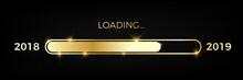 Loading Golden Progress Bar Year 2018 To 2019
