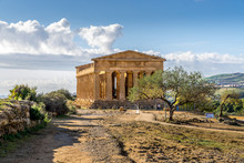 The Valley Of The Temples  - An Archaeological Site In Agrigento, Sicily, Italy.