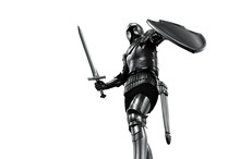 Knight In Armor With Sword On ...