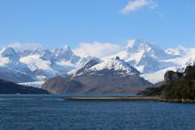 Ainsworth Bucht Und Marinelli Gletscher In Patagonien. Chile
