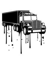 Graffiti Tropfen Farbe Truck L...