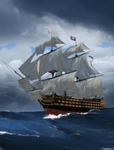 Admiral Nelson Flagship HMS Victory At Trafalgar
