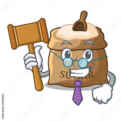 Fotografie, Tablou  Judge sugar in bowl isolated on cartoon