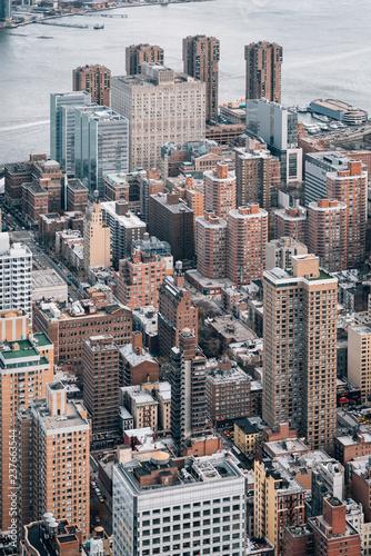 Deurstickers New York City View of buildings in Midtown Manhattan, in New York City