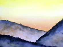 Watercolor Painting Landscape ...