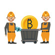 Mining bitcoin and workers with wagon