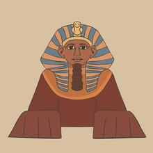 Great Sphinx Cartoon Front View