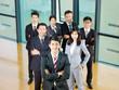 portrait of an asian business team