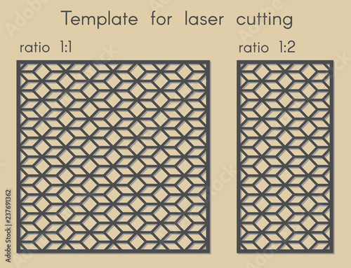 Stencil for panels of wood, metal  Template for laser