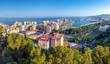 Panorama über Málaga vom Gibralfaro