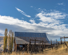 Old Barn In Western Country
