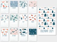 Cute Monthly Calendar 2019