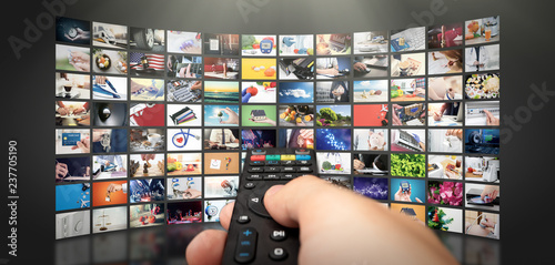 Television streaming video. Media TV on demand Fototapet