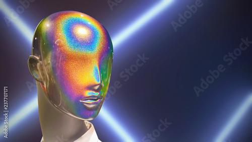 Close-up of a plastic mannequin head Canvas Print