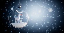 Glaskugel - Weihnachtskugel Mi...