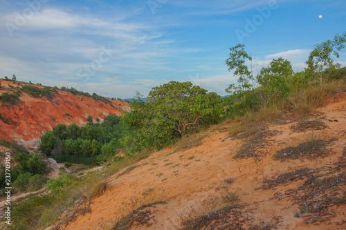 Foto op Canvas Baksteen The sand dunes of Vietnam