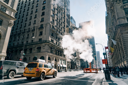 Photo sur Aluminium New York TAXI New York City Street