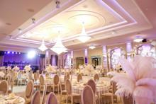 Beautiful Wedding Settings On Restaurant
