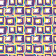Beautiful Patchwork Abstract Art Vector Seamless Pattern Bright Purple Rectangles For Desing, Textile, Wallpaper, Wrapping, Cover Page, Web Site, Card, Business Banner, Typographic Print, Carpet.